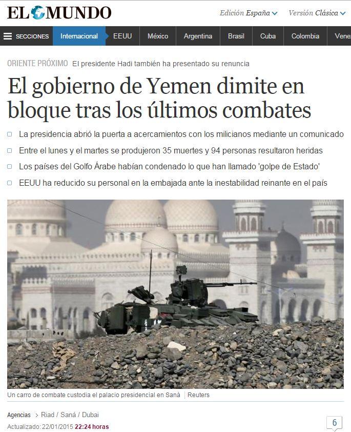 yemen gobierno dimite