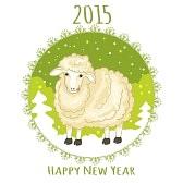 31645931-tarjeta-con-el-copo-de-nieve-verde-y-pequena-oveja-linda-simbolo-de-2015-nuevo-ano