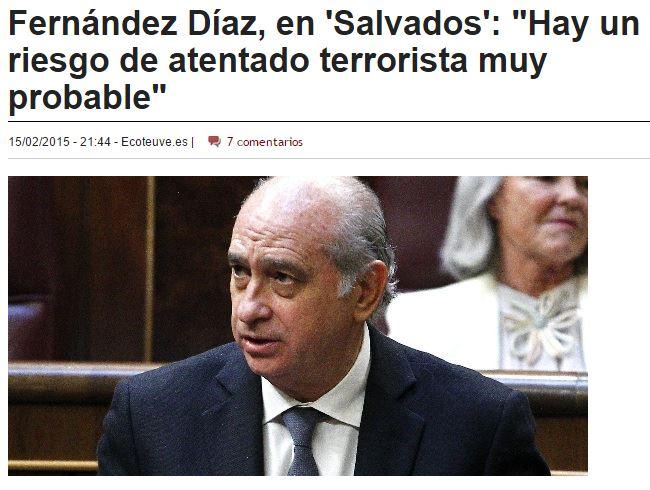 atentado en españa ministro interior