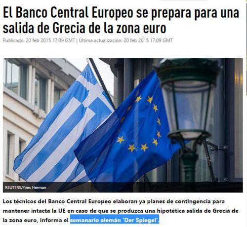bce prepara salida grecia euro