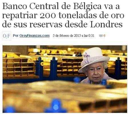 belgica repatria oro