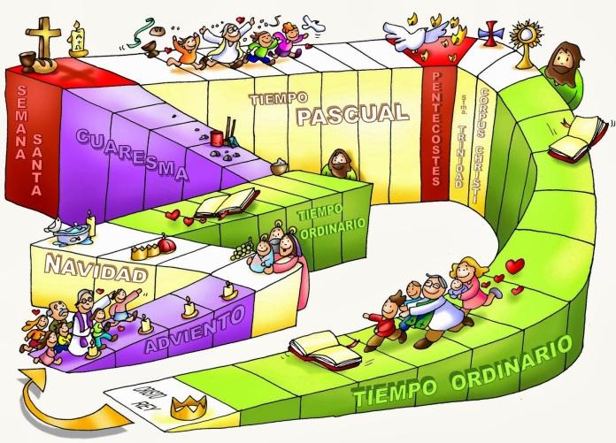 CALENDARIO LITURGICO COLOR TEXTO