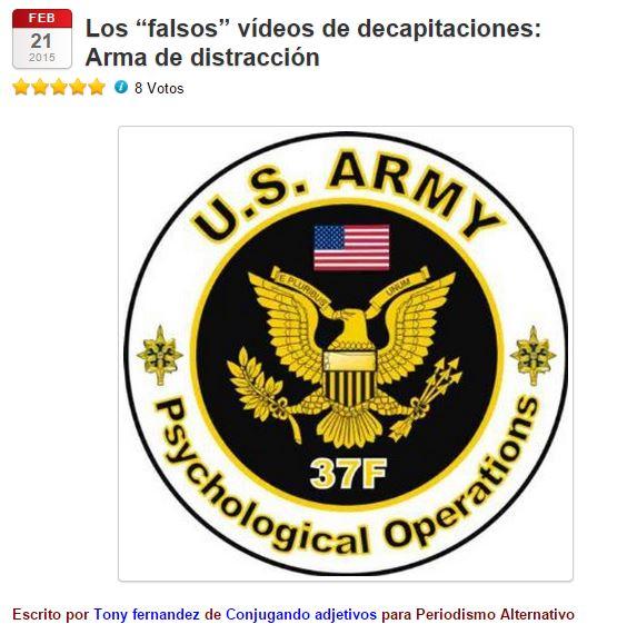 FALSOS VIDEOS DE DECAPITACIONES