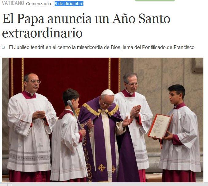 juileo extraordinario papa francisco 8 diciembre 2015