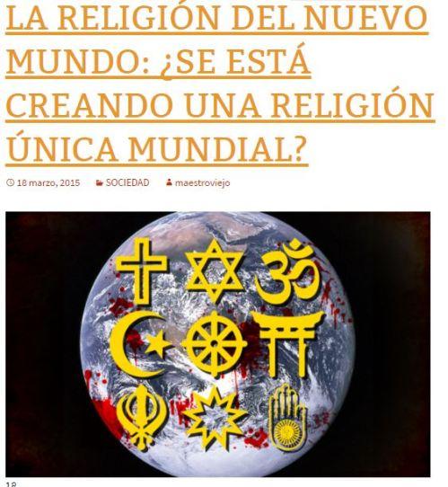una unica religion