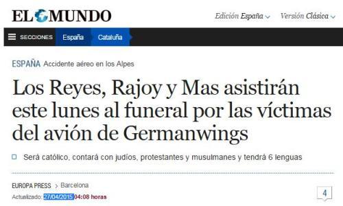 33 dias despues funeral germanwings