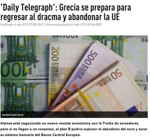 GRECIA SE PREPARA PARA ABandonar euro