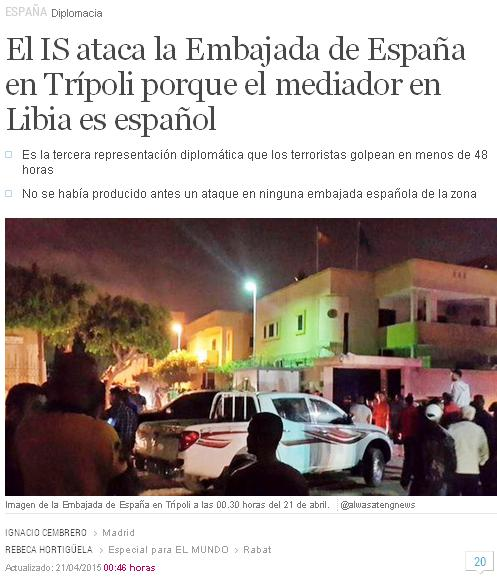 is ataca embajada españa en libia