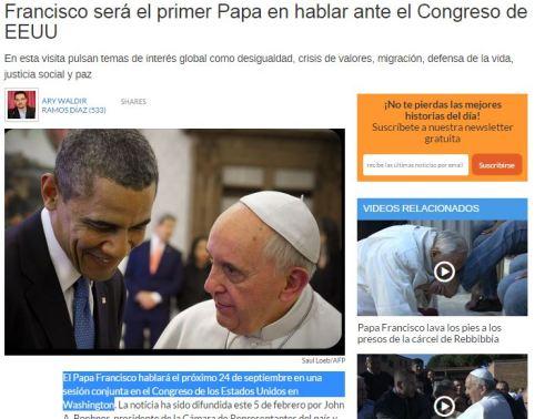 papa congreso eeuu 24 septiembre