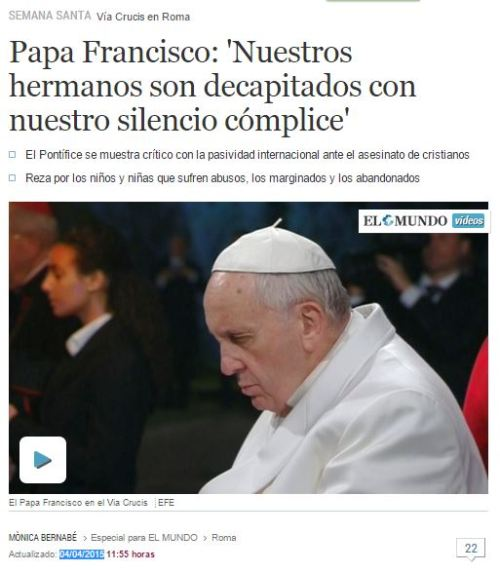 papa decapitaciones