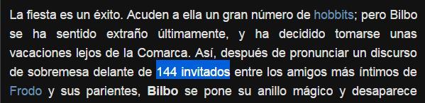 144 invitados hcumple 111 bilbo bolsom