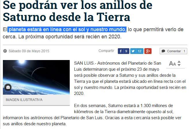 saturno sol tierra 1300 mill km