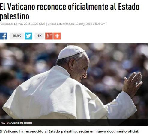 vaticano palestina