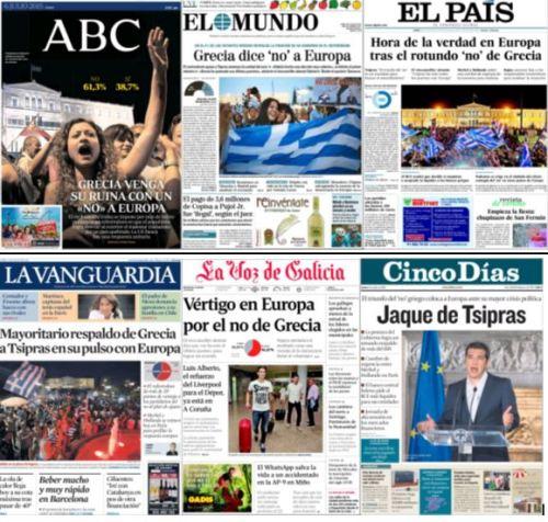 portadas lunes 6 de julio 2015