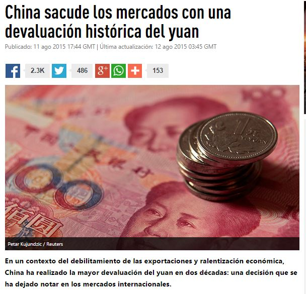 china devaluacion historica