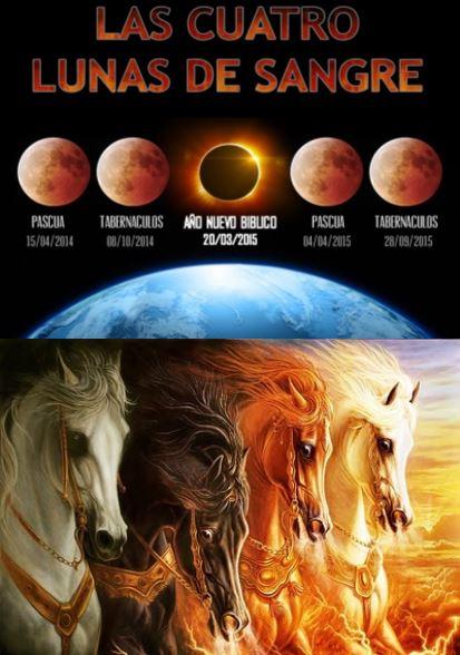 cuatro lunas de sangre, 4 jinetes del apocalipsis