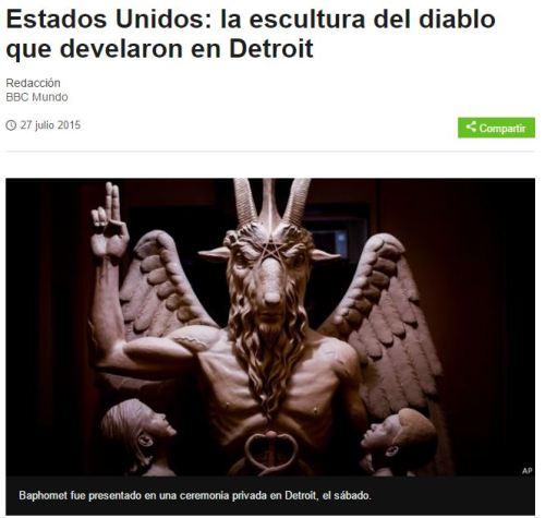 detroit escultura satnica
