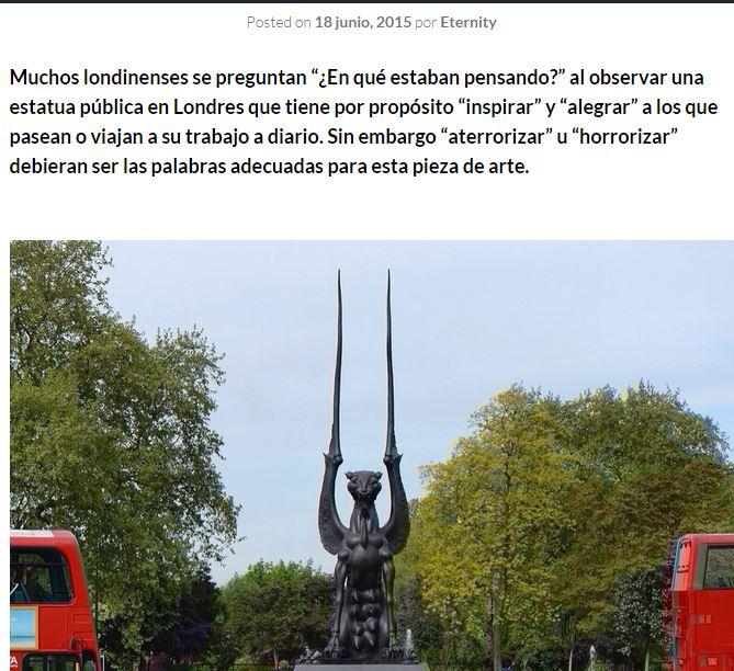 estatua satanica londres