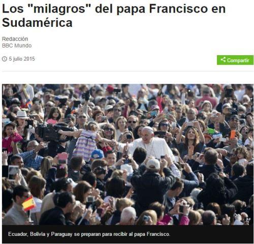 milagros del papa bbc