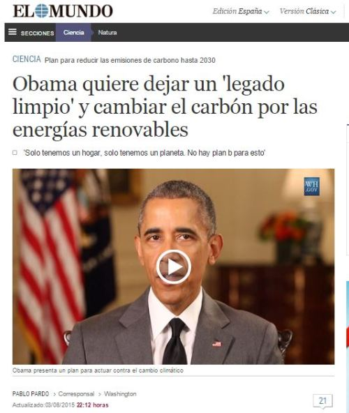 obama cmbio climatico