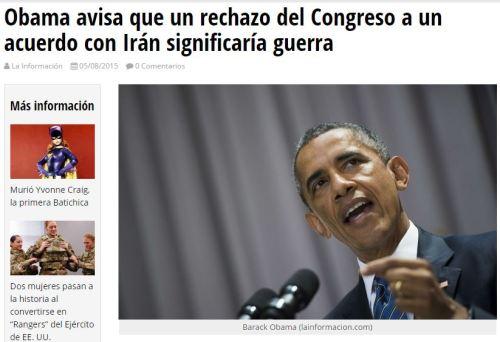 obama iran guerra