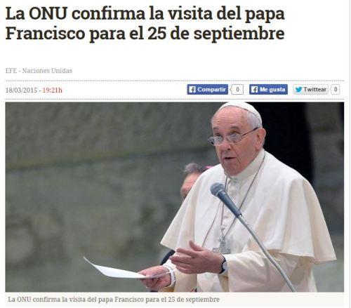 onu papa 25 septiembre