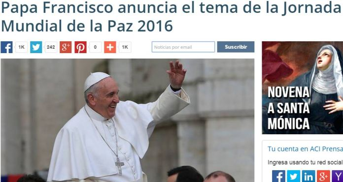 papa francisco paz