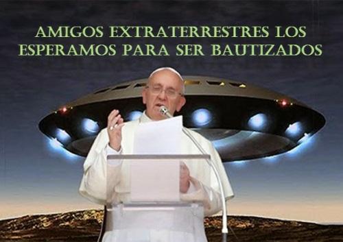 Resultado de imagem para papa francisco e extraterrestres