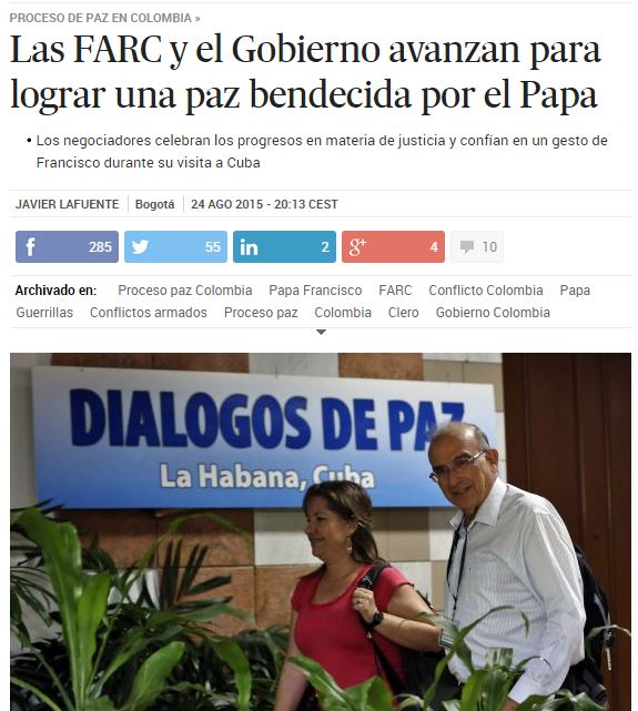 paz colombia papa