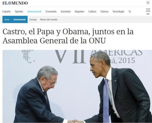castro, obama y papa francisco