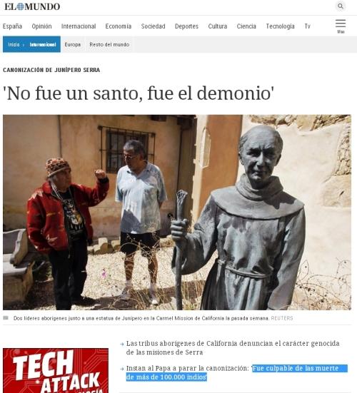 demonio junipero serra