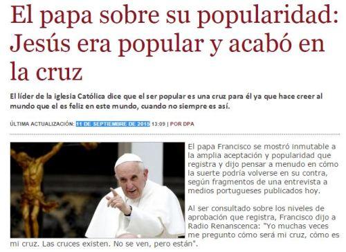 jesus cruz papa
