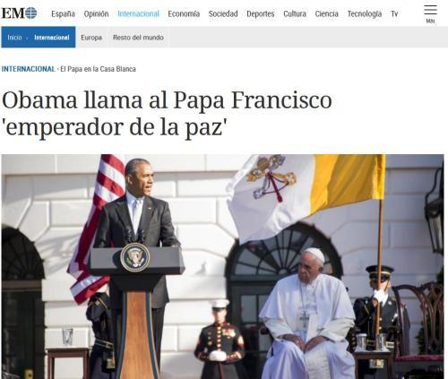 papa emperador de la paz