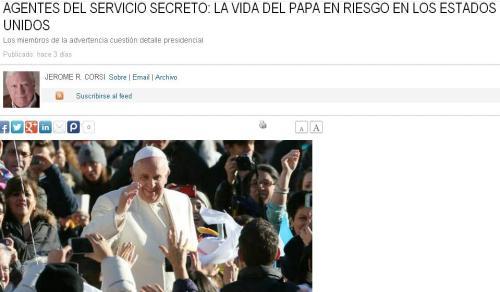 papa francisco amenaza