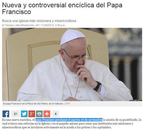 papa francisco enciclica 666