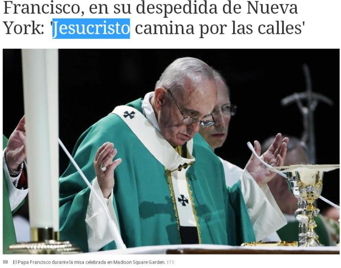 papa francisco jesucristo