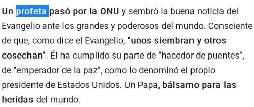 papa profeta