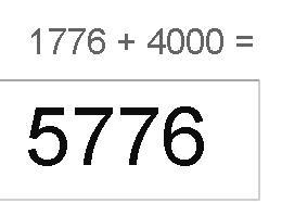 1776 + 4000 5776