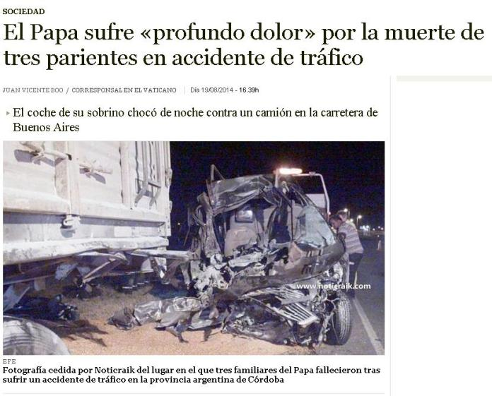 accidente 3 familiares papa
