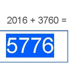 anno mundi 2016 + 3760 5776