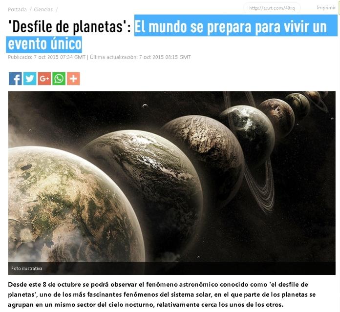 desfile planetas