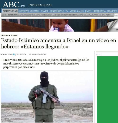 estado islamico israel amenaza
