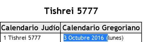 inicio año 5777 hebreo