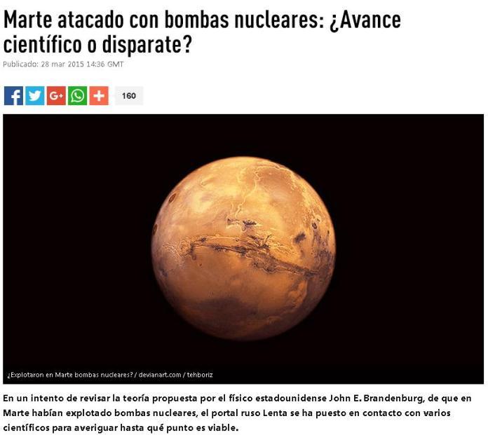 MARTE BOMBAS NUCLEARES