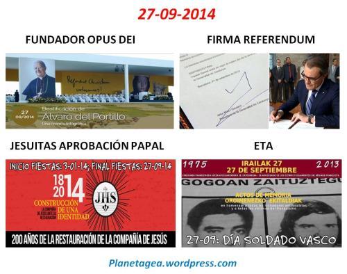 27-09-14 JESUITAS, SIONISTAS CATALANES, SOLDADO ETARRA Y BEATIFICACION FUNDADOR OPUS DEI