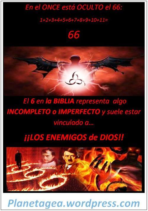 once oculto el 66 y el 6 vinculado a los enemigos de dios