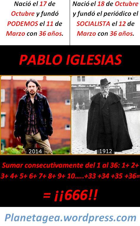 PABBLO IGLESIAS PODEMOS Y PSOE 36 666