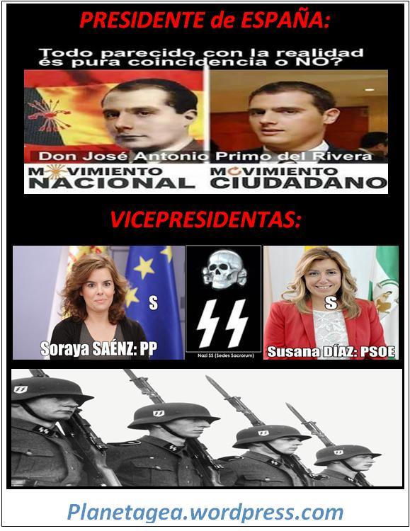 PRESIDENTE DE ESPAÑA ALBERT RIVERA Y VICEPRESIDENTAS SORAYA Y SUSANA PPSOE 25-02-15
