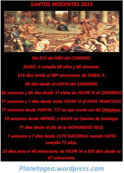 SANTOS INOCENTES 2015 FELIPE VI Y PAPA FRANCISCO