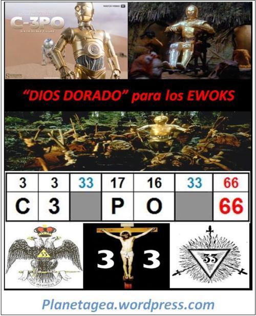 c3po 33-33 dios dorado para los ewoks